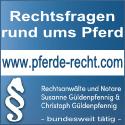 Pferderecht - Rechtsanwaltssozietät Susanne Güldenpfennig & Christoph Güldenpfennig
