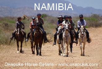 Abenteuerland Namibia - Reitsafari zwischen Giraffen und Nashörnern