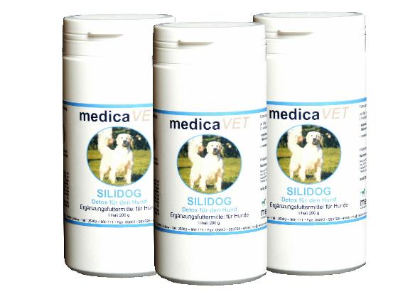 Detox für den Hund - medicaVET SILIDOG - Futterergänzung zur Entgiftung und Revitalisierung