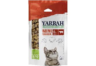 Yarrah Mini Snack für Katzen: Neue Bio-Belohnung mit 97 % Fleischantei intensivem Geschmack und wiederverschließbarem Beutel