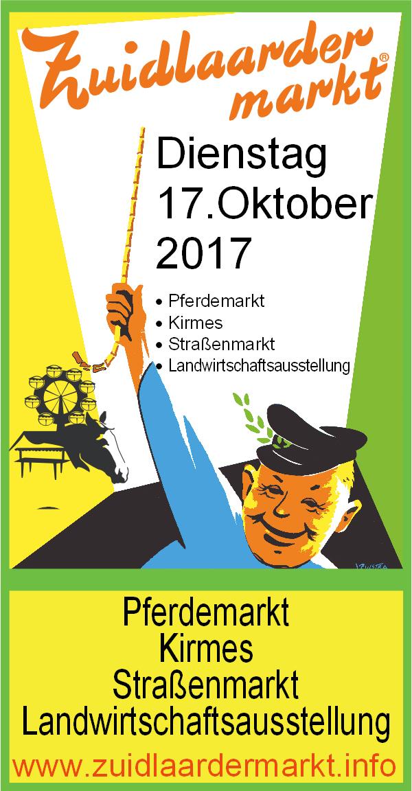 Zuidlaardermarkt am 17. Oktober 2017